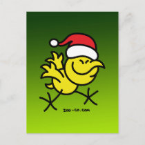 Merry Christmas Chicken Holiday Postcard