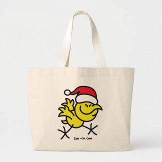 Merry Christmas Chicken Large Tote Bag