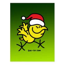 Merry Christmas Chicken Postcard