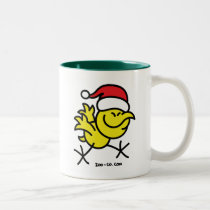 Merry Christmas Chicken Two-Tone Coffee Mug