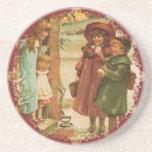 Merry Christmas Children Coasters