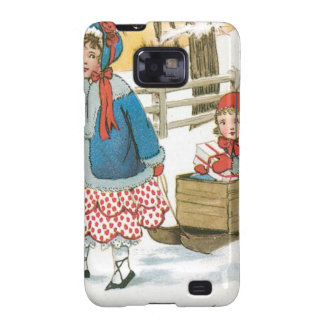 Merry Christmas, Children in a Wooden Sleigh Galaxy SII Cover