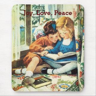 Merry Christmas Children Jessie Willcox Smith Art Mouse Pad