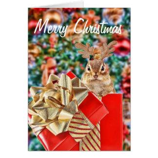 Merry Christmas Chipmunk Card