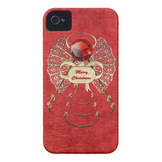 Merry Christmas - Christmas Angel - Red Case-Mate iPhone 4 Case