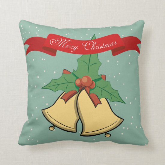 Merry Christmas - Christmas Bells Pillow