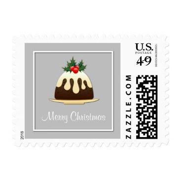 McTiffany Tiffany Aqua Merry Christmas Christmas Pudding Postage
