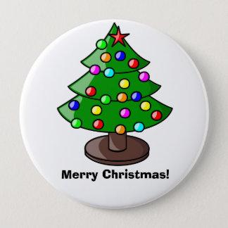 """Merry Christmas"" Christmas Tree Button"