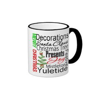 Merry Christmas Christmas Tree Collage Mugs