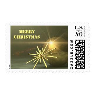 merry christmas - christmas tree decorations postage