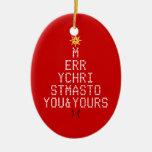 Merry Christmas Christmas Tree Ornaments