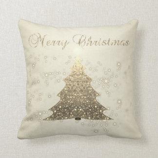 Merry Christmas,Christmas Tree,Sparkles Throw Pillow
