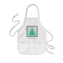 christmas, holiday, christmas tree, christmas gift, merry christmas, christmas design, festive design, xmas, season, decorative, gift, contemporary, whimsical, greetings, merry, cheerful, illustration, houk, custom, customizable, personalizable, winter, eerie, wishes, holidays, Apron with custom graphic design