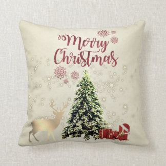 Merry Christmas,Christmas Trees ,Presents,Reindeer Throw Pillow