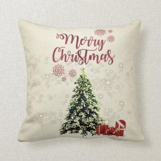 Merry Christmas,Christmas Trees ,Presents Throw Pillow