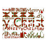 Merry Christmas Circle Postcard