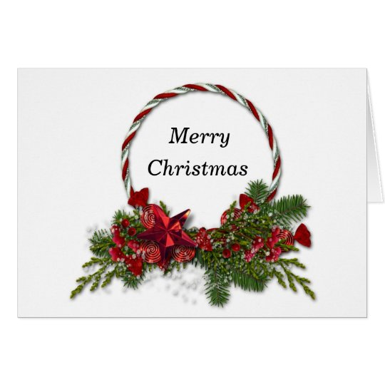 Merry Christmas Circle wreath Card