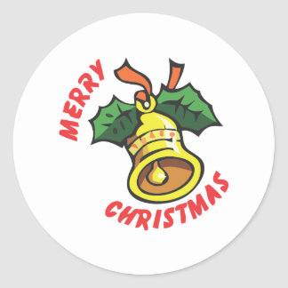 Merry Christmas Classic Round Sticker