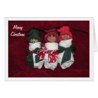 Merry Christmas: Clay Babies, Polymer Clay Card