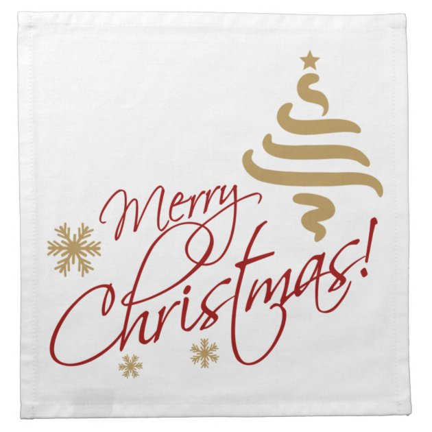 Merry Christmas Cloth Napkin Zazzle Com