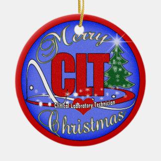 MERRY CHRISTMAS CLT ORNAMENT - CLINICAL LAB TECH