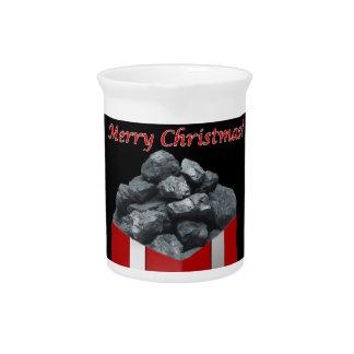 Merry Christmas Coal Present Pitcher