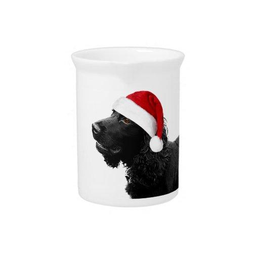 Merry Christmas Cocker Beverage Pitcher