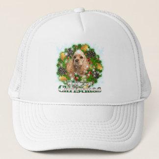Merry Christmas Cocker Spaniel Trucker Hat