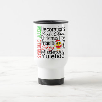 Merry Christmas Collage Chick 15 Oz Stainless Steel Travel Mug