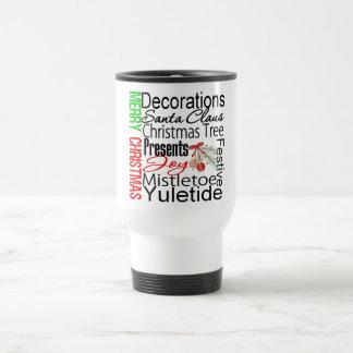 Merry Christmas Collage Festive Coffee Mug