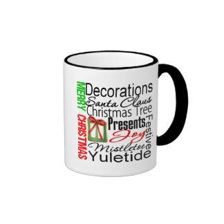 Merry Christmas Collage Presents Coffee Mug
