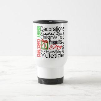 Merry Christmas Collage Presents Mug