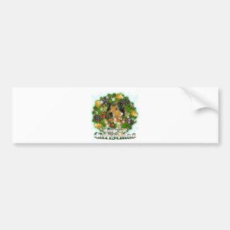 Merry Christmas Collie Bumper Sticker