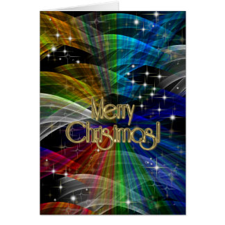 Merry Christmas Color Explosion PERSONALIZED Greeting Card
