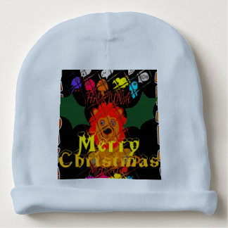 Merry Christmas Colorful Baby lion head cozy Baby Beanie