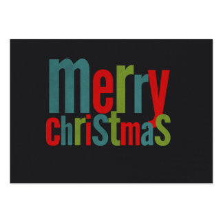 Merry Christmas Colorful Chalkboard Business Card Template