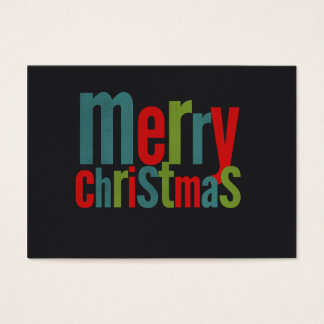 Merry Christmas Colorful Chalkboard Business Card