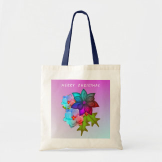Merry Christmas Colorful Succulent Floral Tote Bag