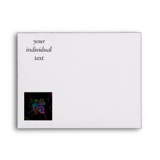 merry christmas colorful text envelope