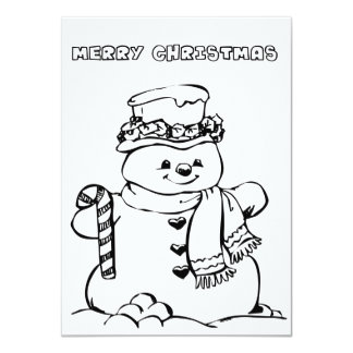 Merry Christmas Coloring Card