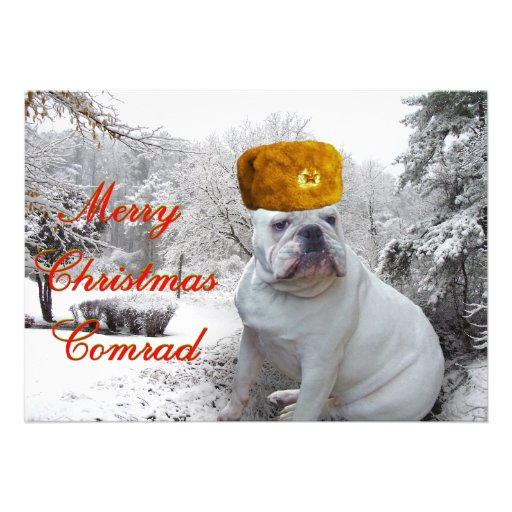 Merry Christmas Comrad Personalized Announcement