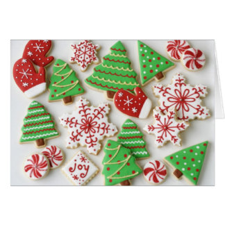 Merry Christmas cookie greeting card