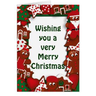 Merry Christmas Cookies Greeting Card