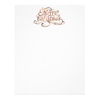 Merry Christmas copper-look script design Letterhead