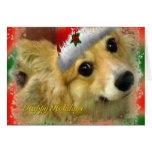Merry Christmas Corgi Card