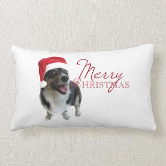 Merry Christmas Corgi Pillow