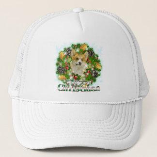 Merry Christmas Corgi Trucker Hat