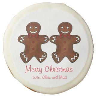 Merry Christmas Couple Gingerbread Men Cookies
