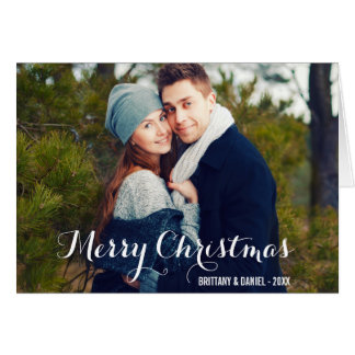 Merry Christmas Couple Photo Fold Card W