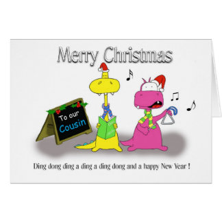 Merry Christmas Cousin Greeting Cards